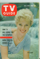 1960 TV Guide Aug 20 Betsy Palmer Virginia edition Excellent - No Mailing Label  [Lt wear on cover, contents fine]
