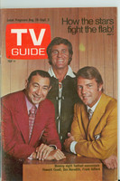 1971 TV Guide August 28 Monday Night Football (First Cover) St. Louis edition Excellent - No Mailing Label  [Wear and scuffing on cover; minor discoloration, contents fine]