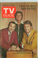 1971 TV Guide August 28 Monday Night Football (First Cover) Colorado edition Excellent - No Mailing Label  [Scuffing on cover, contents fine]