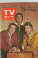 1971 TV Guide August 28 Monday Night Football (First Cover) Western Illinois edition Very Good to Excellent - No Mailing Label  [Lt wear and creasing on cover; contents fine]