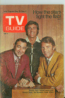 1971 TV Guide August 28 Monday Night Football (First Cover) Montana edition Good to Very Good - No Mailing Label  [Heavy creasing on cover, contents fine]