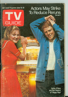 1974 TV Guide Jun 15 Happy Days (First Cover) Eastern Washington edition Excellent - No Mailing Label  [Wear, scuffing on cover; contents fine]