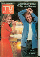 1974 TV Guide Jun 15 Happy Days (First Cover) Northen Indiana edition Very Good to Excellent - No Mailing Label  [Mositure on cover, some scuffing; contents fine]