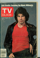 1977 TV Guide Jan 1 John Travolta of Welcome Back Kotter Oregon State edition Very Good - No Mailing Label  [Heavy scuffing and creasing on cover; contents fine]