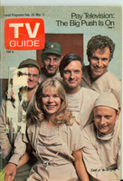 1973 TV Guide Feb 24 Cast of MASH (First Cover) Eastern Illinois edition Good to Very Good  [Lt creasing on cover, label removed; small tape on binding]