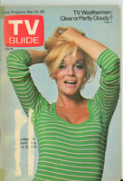 1973 TV Guide Mar 24 Ann-Margaret Eastern Illinois edition Very Good  [Small tape on binding, label removed; contents fine]