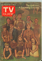 1973 TV Guide Apr 28 The Waltons New Orleans edition Fair to Good - No Mailing Label  [Cover COMPLETELY DETACHED, cover scuffing; listings fine]