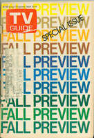 1973 TV Guide September 8 Fall Preview Iowa edition Fair to Good  [Cover tears, cover DETACHED, listings fine]