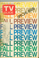 1973 TV Guide September 8 Fall Preview Western New England edition Good to Very Good  [Tape on binding, year WRT on cover; contents fine]