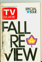 1971 TV Guide September 11 Fall Preview Western Illinois edition Very Good to Excellent  [Lt wear and creasing on cover; contents fine]