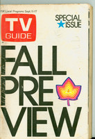 1971 TV Guide September 11 Fall Preview Philadelphia edition Very Good - No Mailing Label  [Wear, creasing and scuffing on cover; pencil writing on cover]
