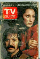 1972 TV Guide Mar 18 Sonny and Cher (First Cover) Montana edition Fair to Good - No Mailing Label  [Very heavy wear on cover and binding, listings fine]