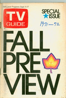 1971 TV Guide September 11 Fall Preview Eastern Illinois edition Very Good - No Mailing Label  [Loose at the staples, year WRT on cover; some toning, contents fine]