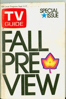 1971 TV Guide September 11 Fall Preview Iowa edition Very Good - No Mailing Label  [Minor paper loss on top of cover; some wear at the staples, contents fine]