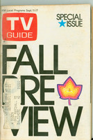 1971 TV Guide September 11 Fall Preview Washington-Baltimore edition Very Good to Excellent  [Heavy toning on cover; lt wear, contents fine]