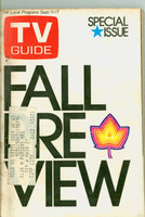 1971 TV Guide September 11 Fall Preview Southern Ohio edition Very Good to Excellent  [Heavy toning on cover; wear around staples, contents fine]