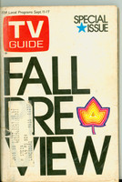 1971 TV Guide September 11 Fall Preview Eastern New York edition Very Good to Excellent  [Toning on cover; wear around staples, contents fine]