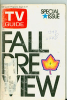 1971 TV Guide September 11 Fall Preview Eastern Washington edition Very Good  [Period writing on cover; toning and surface wear on cover; contents fine]