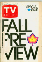 1971 TV Guide September 11 Fall Preview Eastern Illinois edition Good to Very Good  [Heavy toning on cover, tape on binding; label removed]
