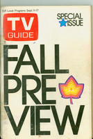 1971 TV Guide September 11 Fall Preview Philadelphia edition Good to Very Good  [Wear on cover, tape on binding; contents fine]
