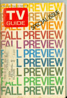 1972 TV Guide September 9 Fall Preview Philadelphia edition Very Good - No Mailing Label  [Tape on binding covering staples; lt surface wear, contents fine]