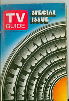 1969 TV Guide Sep 13 Fall Preview Western Illinois edition Very Good - No Mailing Label  [Wear and creasing on cover, contents fine]