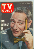 1960 TV Guide Jan 30 Garry Moore Northern California edition Very Good to Excellent - No Mailing Label  [Lt wear and minor creasing on cover; contents fine]