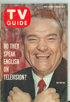 1960 TV Guide Feb 20 Red Skelton Chicago edition Very Good to Excellent - No Mailing Label  [Wear and creasing on cover, contents fine]