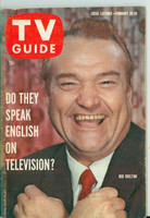 1960 TV Guide Feb 20 Red Skelton Illinois edition Excellent - No Mailing Label  [Lt scuffing along binding, ow clean]