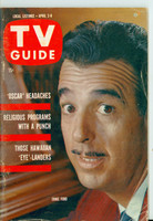 1960 TV Guide Apr 2 Tennessee Ernie Ford Kansas City edition Very Good to Excellent - No Mailing Label  [Wear on cover, sl creasing; contents fine]