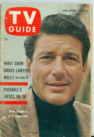 1960 TV Guide Apr 9 Efrem Zimbalist Jr of 77 Sunset Strip Southern Ohio edition Good to Very Good - No Mailing Label  [Heavy creasing on cover; contents fine]
