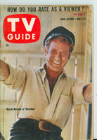 1960 TV Guide Jun 4 Darren McGavin of Riverboat St. Lawrence edition Very Good to Excellent - No Mailing Label  [Wear and creasing on cover, contents fine]