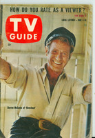 1960 TV Guide Jun 4 Darren McGavin of Riverboat Colorado edition Very Good - No Mailing Label  [Wear and creasing on cover, contents fine]