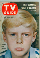 1960 TV Guide Mar 5 Jay North as  Dennis the Menace NY Metro edition Very Good to Excellent - No Mailing Label  [Minor spotting on cover, contents fine]