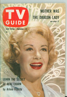 1960 TV Guide Sep 3 Arlene Francis Northern California edition Excellent to Mint - No Mailing Label  [Very clean example]
