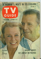1960 TV Guide Sep 17 Dick Powell and June Allyson Colorado edition Very Good to Excellent - No Mailing Label  [Wear on binding and cover, contents fine]