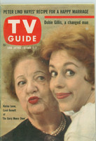 1960 TV Guide Oct 15 Carol Burnett and Marion Lorne Oregon State edition Excellent - No Mailing Label  [Lt wear on cover, contents fine]