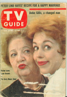 1960 TV Guide Oct 15 Carol Burnett and Marion Lorne Kansas State edition Good to Very Good  [Heavy wear on cover and binding, label removed]
