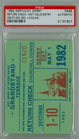1982 Kentucky Derby Ticket Stub Return Check - Gato Del Sol May 1 1982 PSA/DNA Authentic