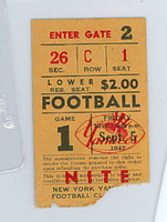 1947 AAFC Ticket Yankees vs Rockets - Stub September 5