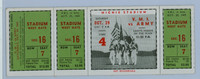1949 College Football VMI vs Army - Full Ticket October 29