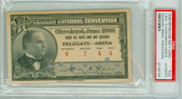 1936 U.S. Presidential Republican Convention Cleveland Delegate Alf Landon PSA PSA/DNA Authentic Slabbed