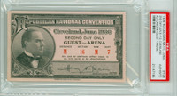 1936 U.S. Presidential Republican Convention Cleveland Guest Alf Landon PSA PSA/DNA Authentic Slabbed