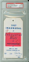 1957 U.S. Presidential Inaugural Ball for Dwight Eisenhower PSA/DNA PSA/DNA Authentic Slabbed