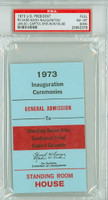 1973 U.S. Presidential Inauguration Ceremony for Richard Nixon PSA 8 MK PSA/DNA Authentic Slabbed