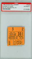 1964 PETER, PAUL and MARY Ticket Stub Philadelphia, PA Oct 30, 1964 PSA/DNA Authentic