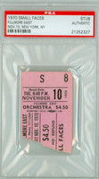 1970 SMALL FACES Ticket Stub Fillmore East, NYC Nov 10, 1970 PSA/DNA Authentic