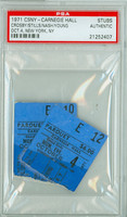 1971 CROSBY, STILLS, NASH and YOUNG Pair of Ticket Stubs Carnegie Hall, NYC Oct 4, 1971 PSA/DNA Authentic