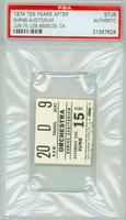 1974 TEN YEARS AFTER Ticket Stub Los Angeles, CA Jun 15, 1974 PSA/DNA Authentic