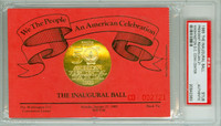 1985 Presidential Inaugural Ball Ronald Reagan Official Pass RED PSA/DNA Authentic Slabbed